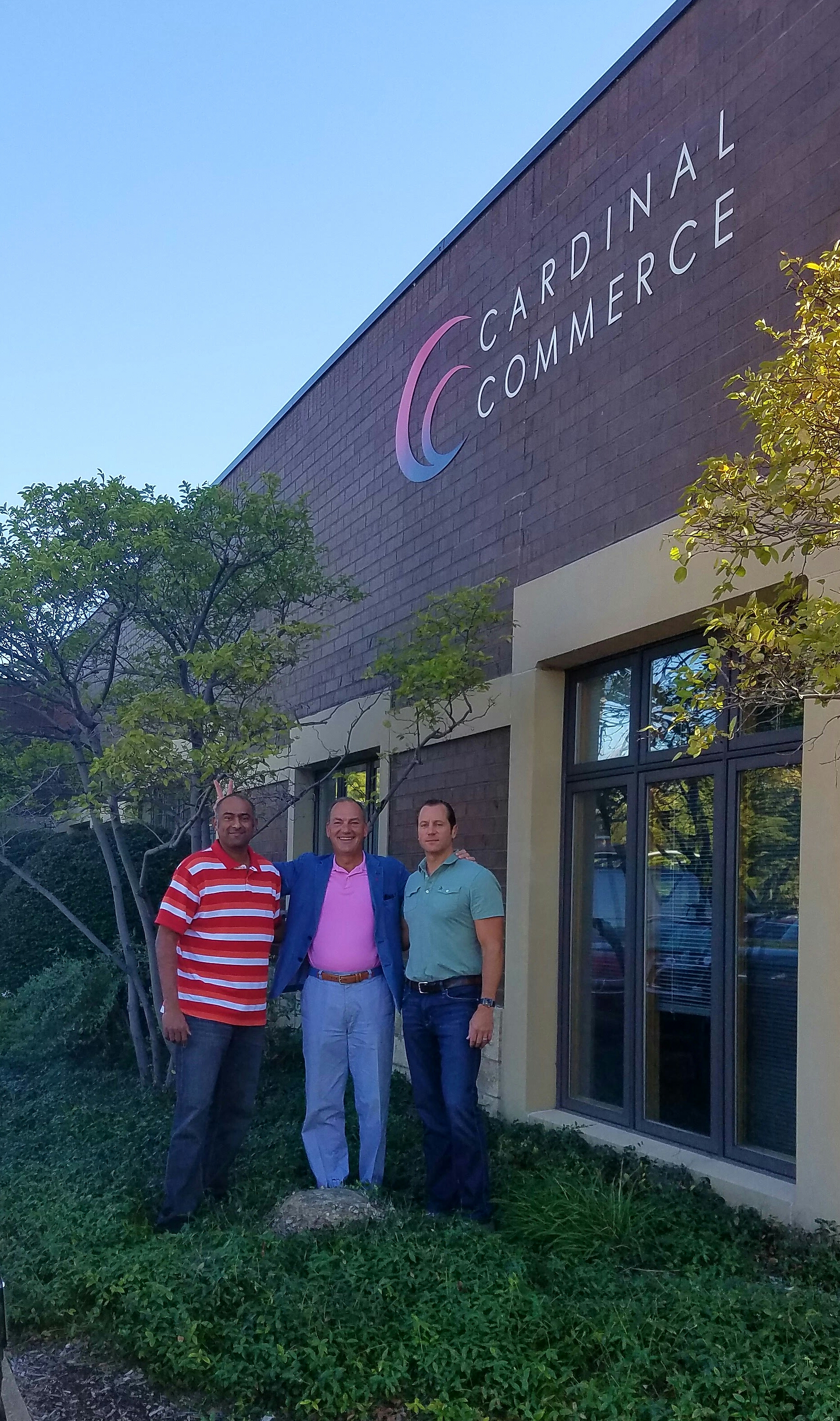 Founders Chandra, Mike and Tim on the last day at our original HQ building