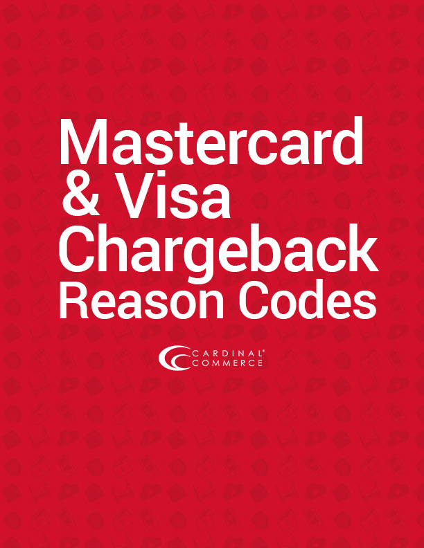 Mastercard and Visa Chargeback Reason Codes