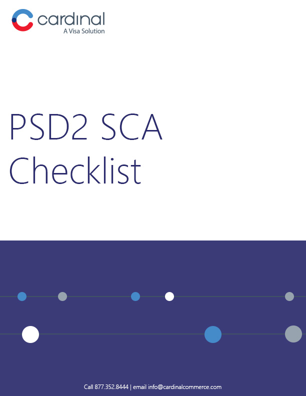 PSD2 SCA Checklist Cover - CardinalCommerce
