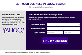 yahoo local listings